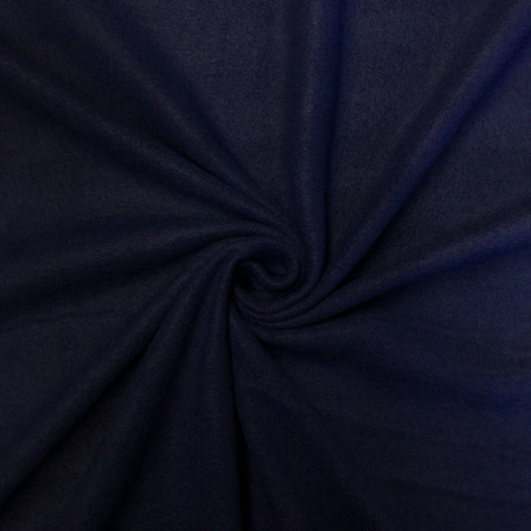 Anti Pill Polar Fleece Solid Sold By The Yard Navy Blue - Supreme Acoustics