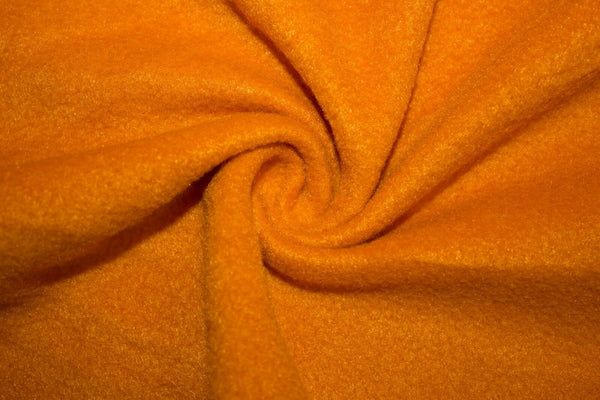 Anti Pill Polar Fleece Solid Sold By The Yard Pumpkin
