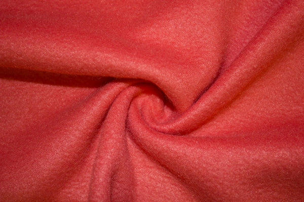 Anti Pill Polar Fleece Solid Sold By The Yard Salmon - Supreme Acoustics