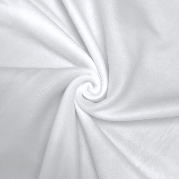 Anti Pill Polar Fleece Solid Sold By The Yard White