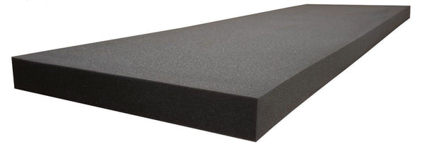 "UPHOLSTERY FOAM PROFESSIONAL ACOUSTICS FOAM 2"" X24""X82"" UPHOLSTERY RUBBER FOAM SHEET CUSHION (SEAT REPLACEMENT, FOAM PADDING) CHARCOAL"