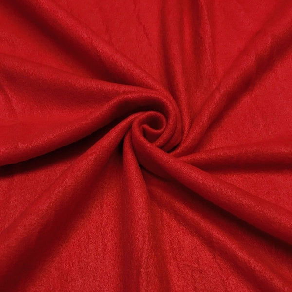 Anti Pill Polar Fleece Solid Sold By The Yard Red - Supreme Acoustics