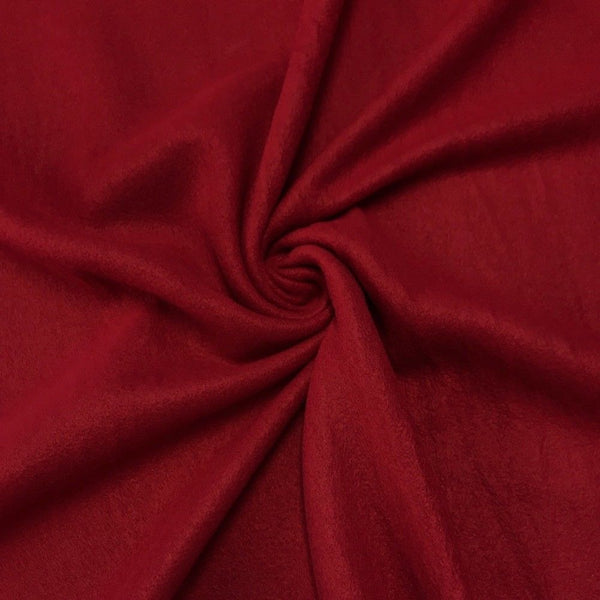 Anti Pill Polar Fleece Solid Sold By The Yard Burgundy - Supreme Acoustics