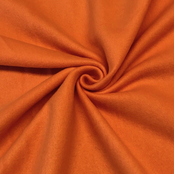 Anti Pill Polar Fleece Solid Sold By The Yard Orange - Supreme Acoustics