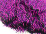 Luxurious Faux Fur Fabric Multicolor Spikes. Sold By The Yard