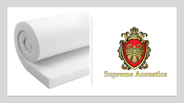 "3"" x 22"" x 36"" Density Seat Foam Cushion Replacement Upholstery Foam Per Sheet - Supreme Acoustics"