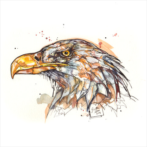 """Eagle"" - Original 8x10 Illustration (SOLD)"