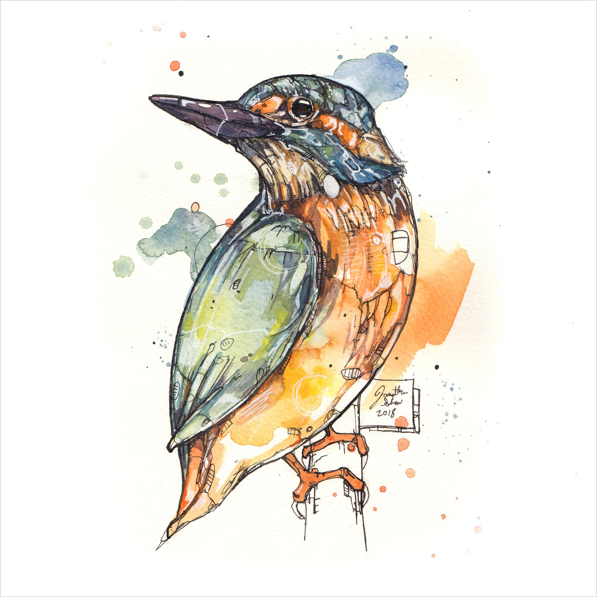 """Kingfisher"" - 8x10 Reproduction print"