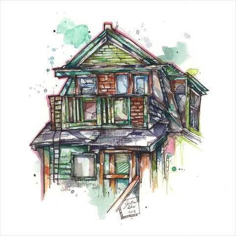 """Green House"" - 8x10 Reproduction print"