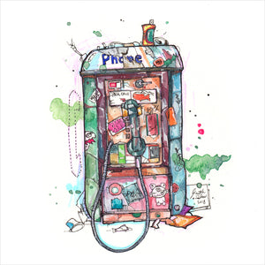 """Payphone"" - Original 8x10 Illustration (SOLD)"