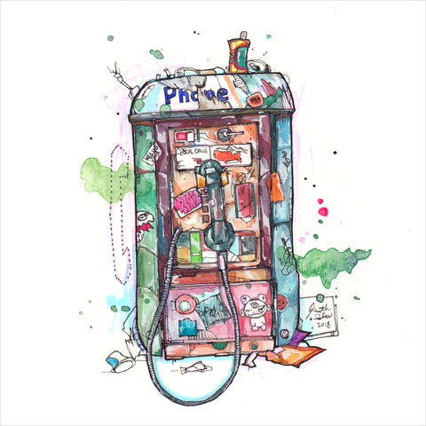 """Payphone"" - 8x10 Reproduction print"
