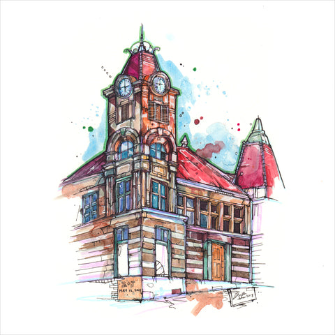 """Heritage Hall"" - 8x10 Reproduction print"