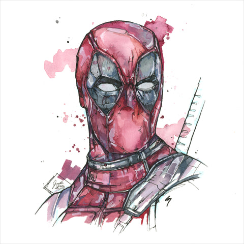 """Deadpool"" - Original 8x10 Illustration (SOLD)"