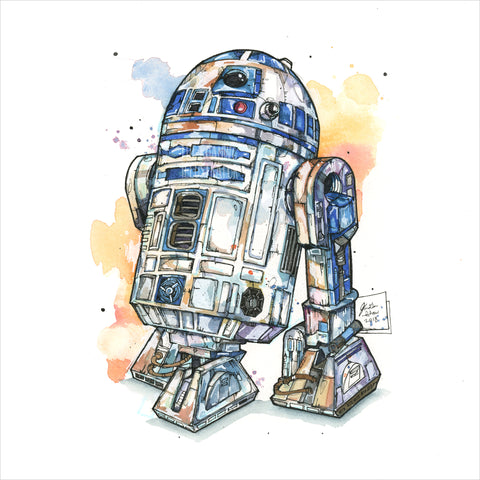 """R2-D2"" - Original 8x10 Illustration (SOLD)"
