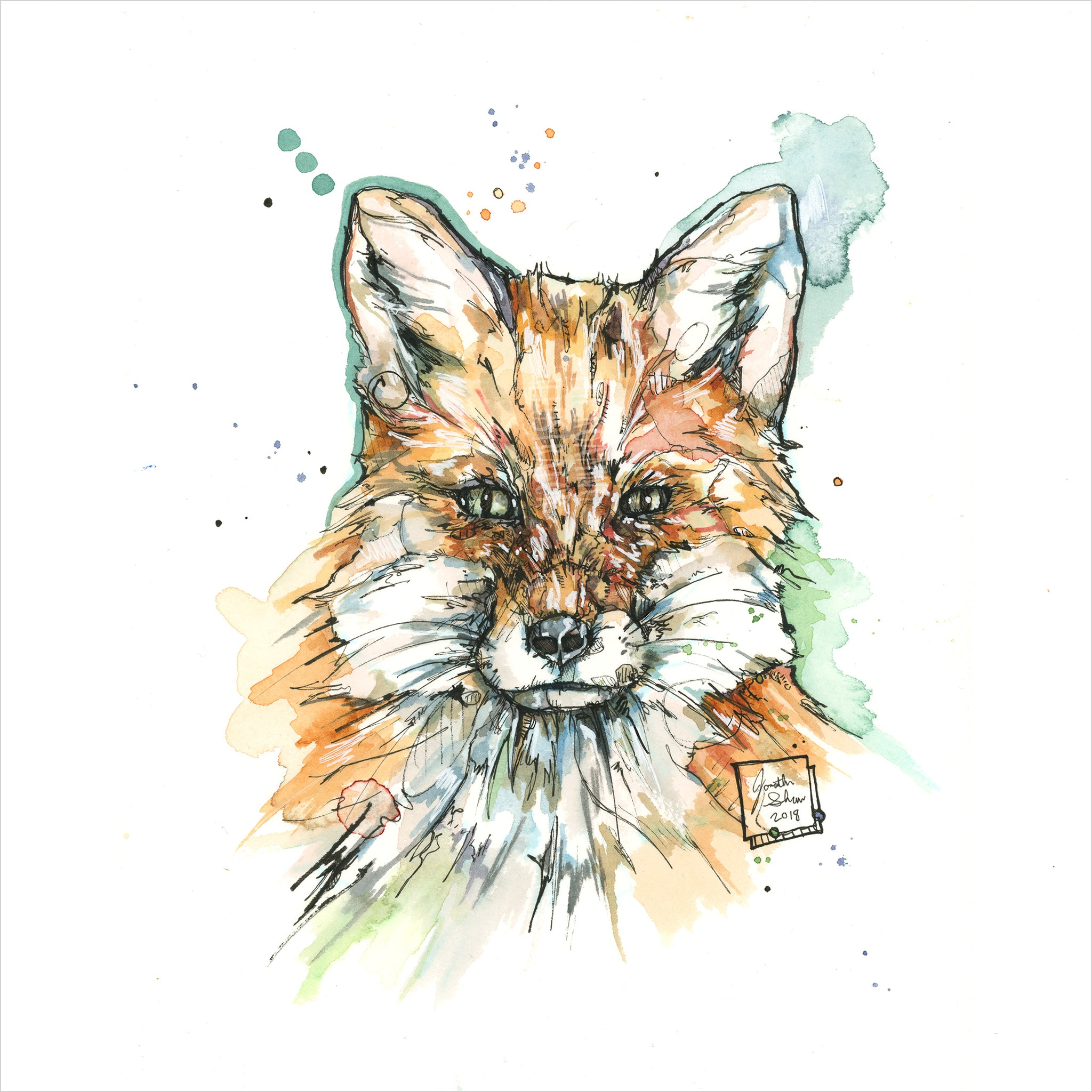 """Red Fox"" - Original 8x10 Illustration (SOLD)"