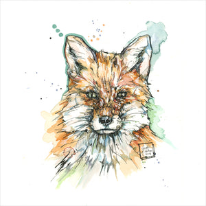 """Red Fox"" - 8x10 Reproduction Print"