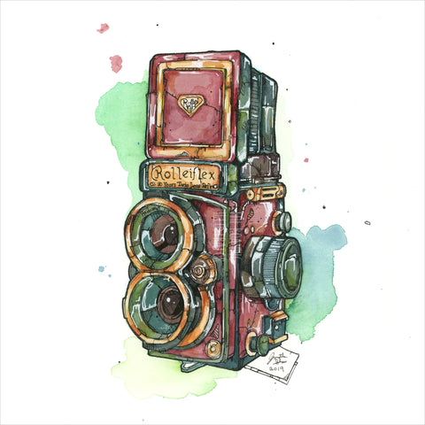 """Twin Lens Reflex Camera"" - 8x10 Reproduction Print"