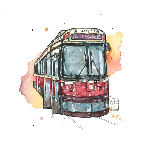 """TTC Streetcar"" - 8x10 Reproduction Print"