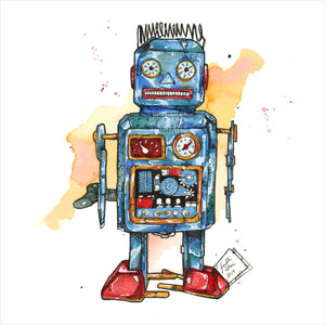 """Toy Robot"" - 8x10 Reproduction Print"