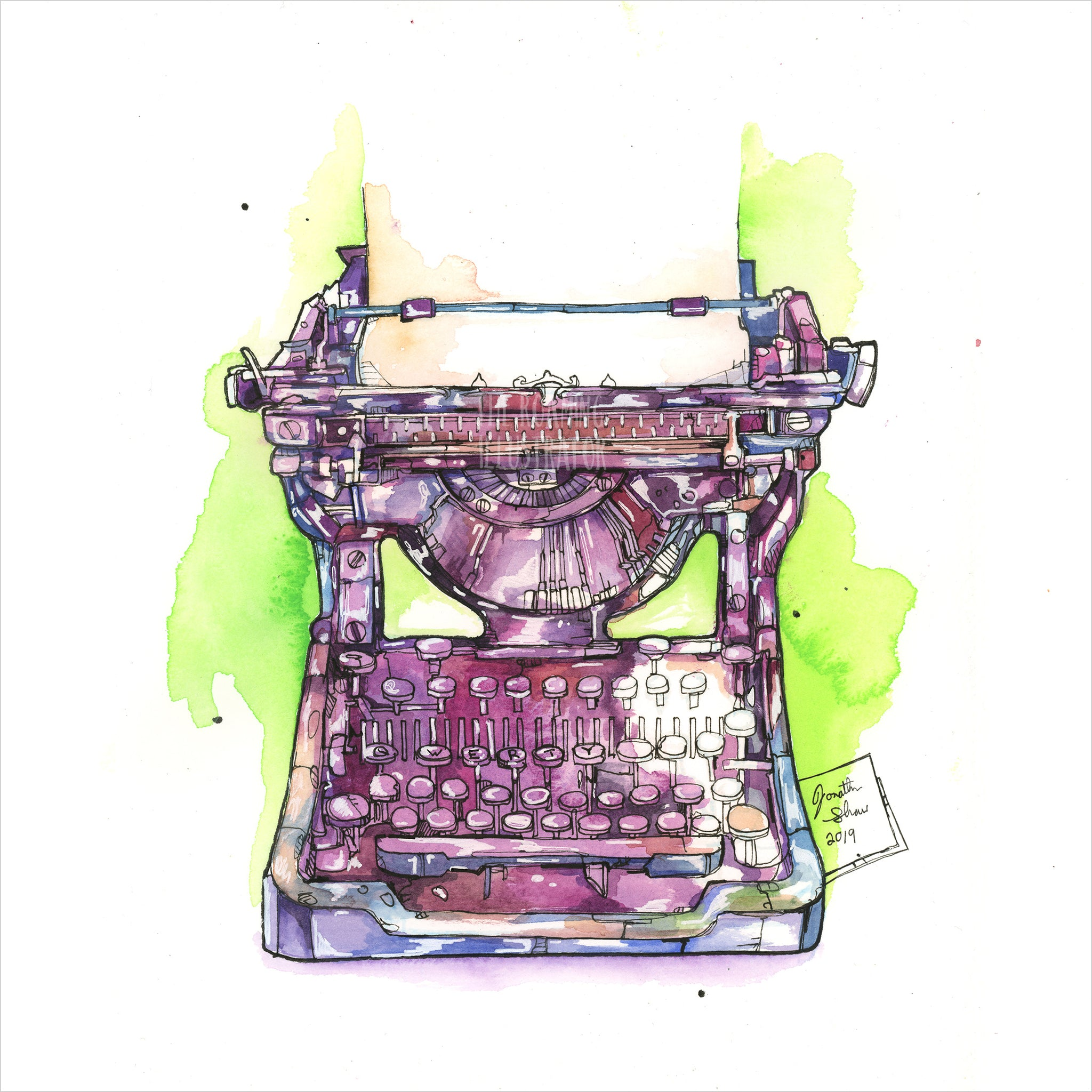"""Typewriter"" - 8x10 Reproduction Print"