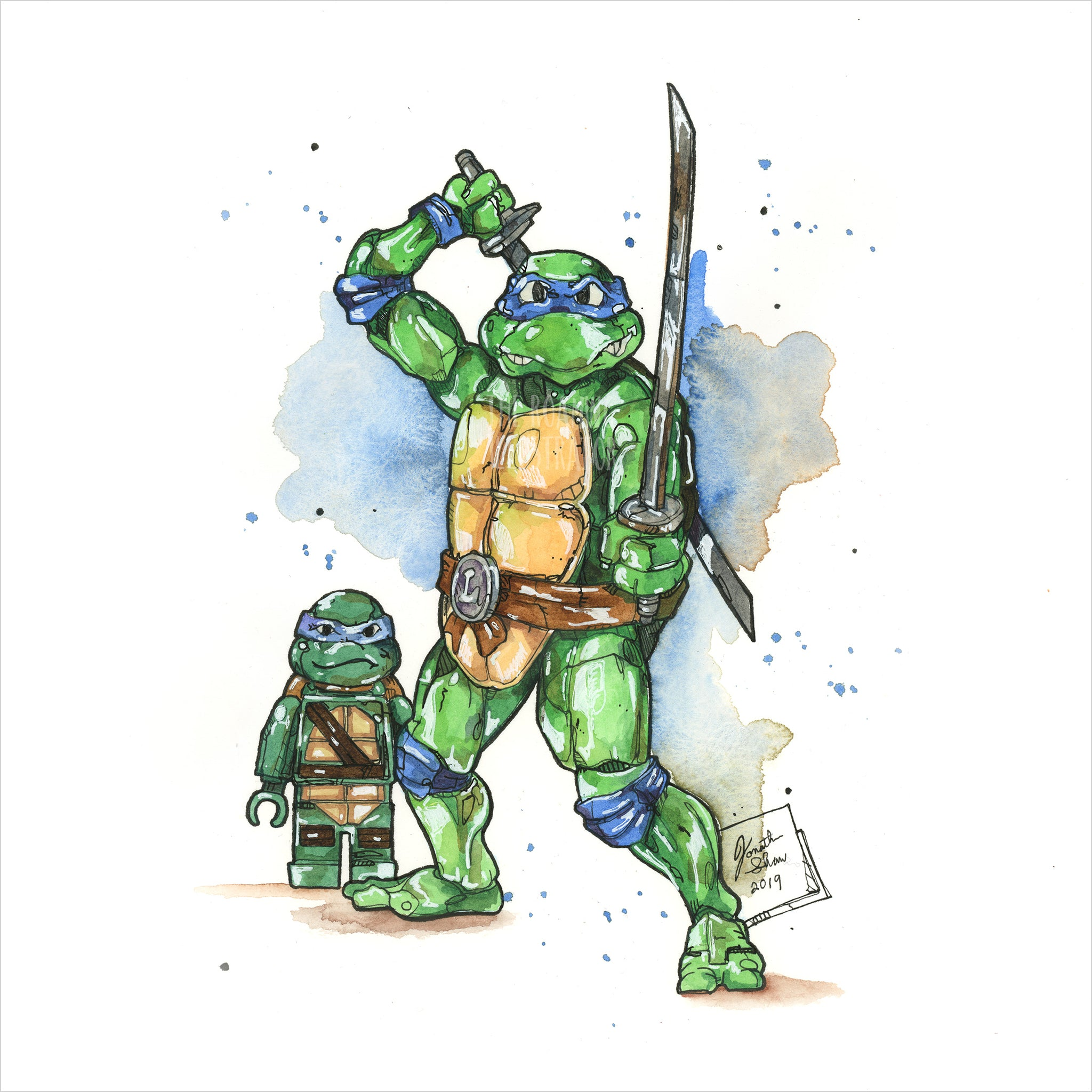 """Ninja Turtle Toys"" - Original 8x10 Illustration (SOLD)"