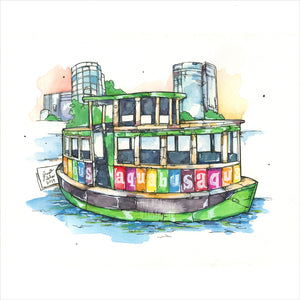 """Aquabus"" - Original 8x10 Illustration (SOLD)"