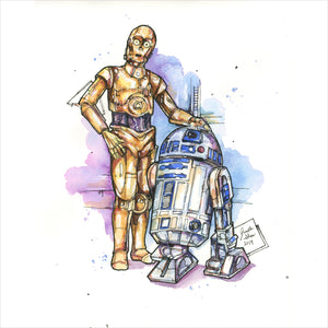 """Droids"" - 8x10 Reproduction Print"