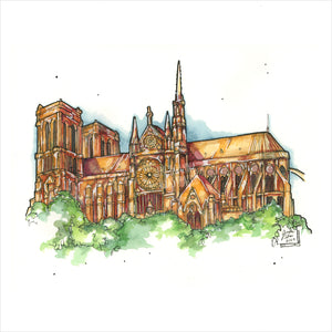 """Cathedral"" - Original 8x10 Illustration (SOLD)"