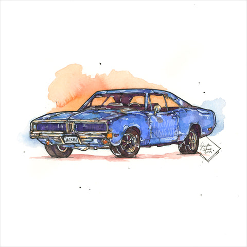 """Charger"" - Original 8x10 Illustration (SOLD)"