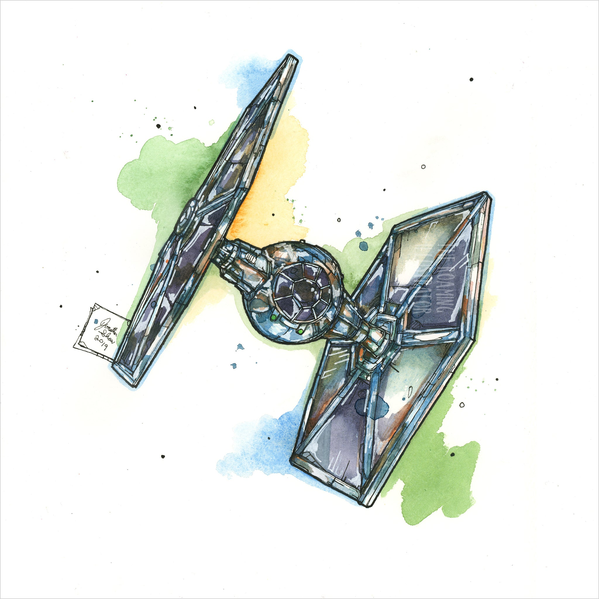 """TIE Fighter"" - 8x10 Reproduction Print"