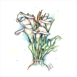 """Calla Lillies"" - 8x10 Reproduction Print"