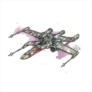 """X-Wing"" - Original 8x10 Illustration"