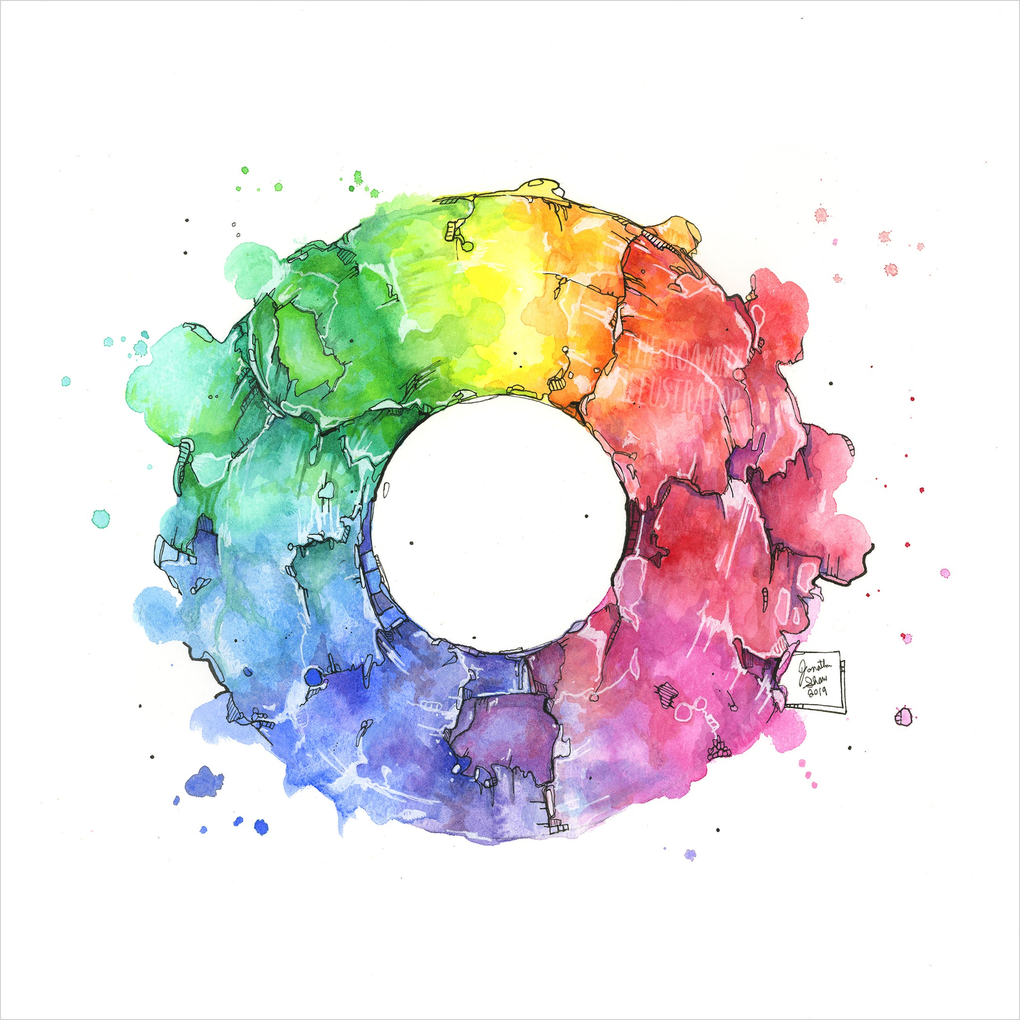 """Colour Wheel"" - Original 8x10 Illustration (SOLD)"