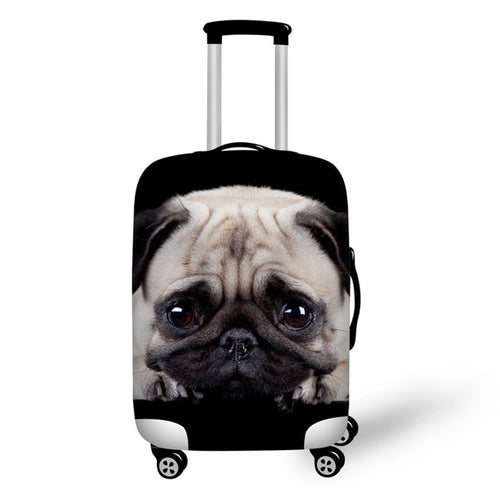 Pug Luggage Elastic Protective Cover