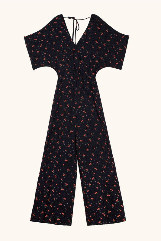 MAEVE CHERRY JUMPSUIT