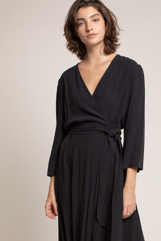 JESSA MIDI WRAP DRESS