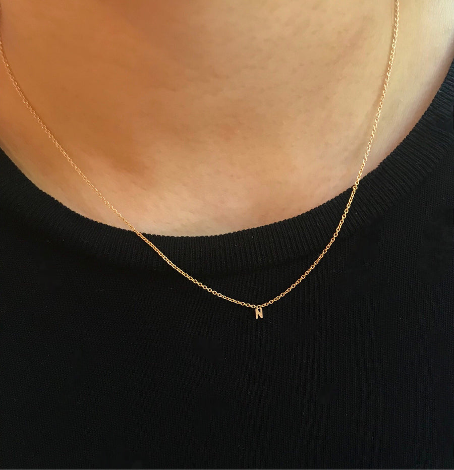 MAY MARTIN FINE JEWELRY INITIAL NECKLACE