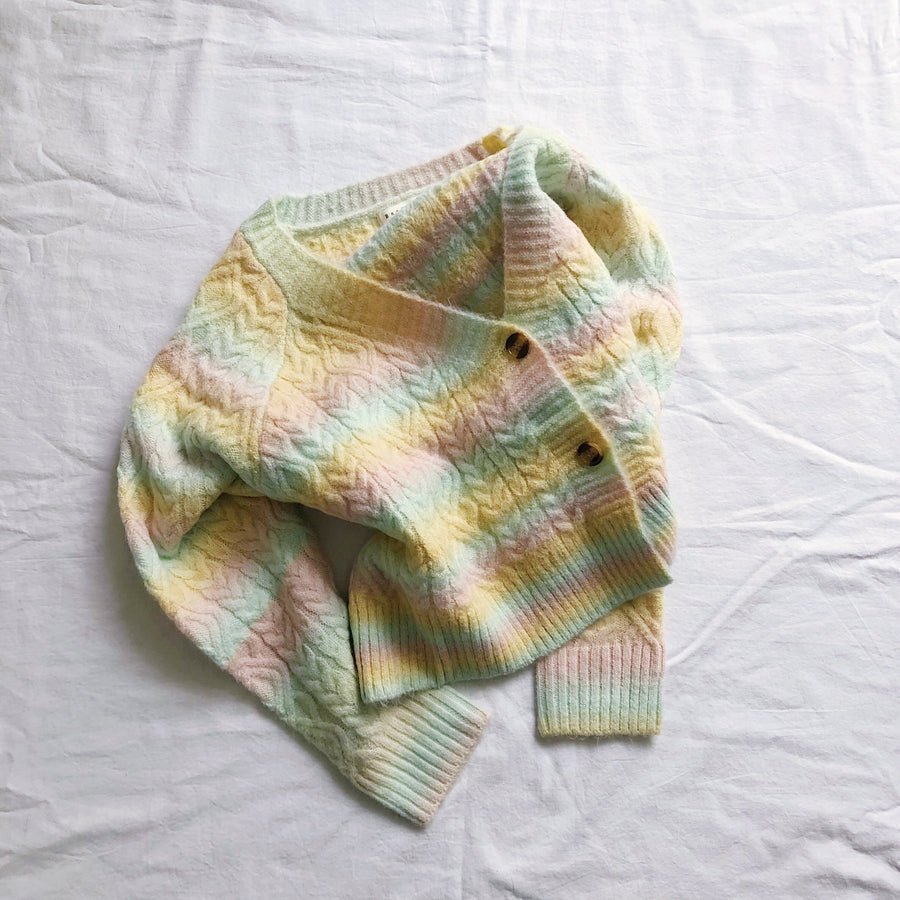 MCROPPED RAINBOW CARDIGAN