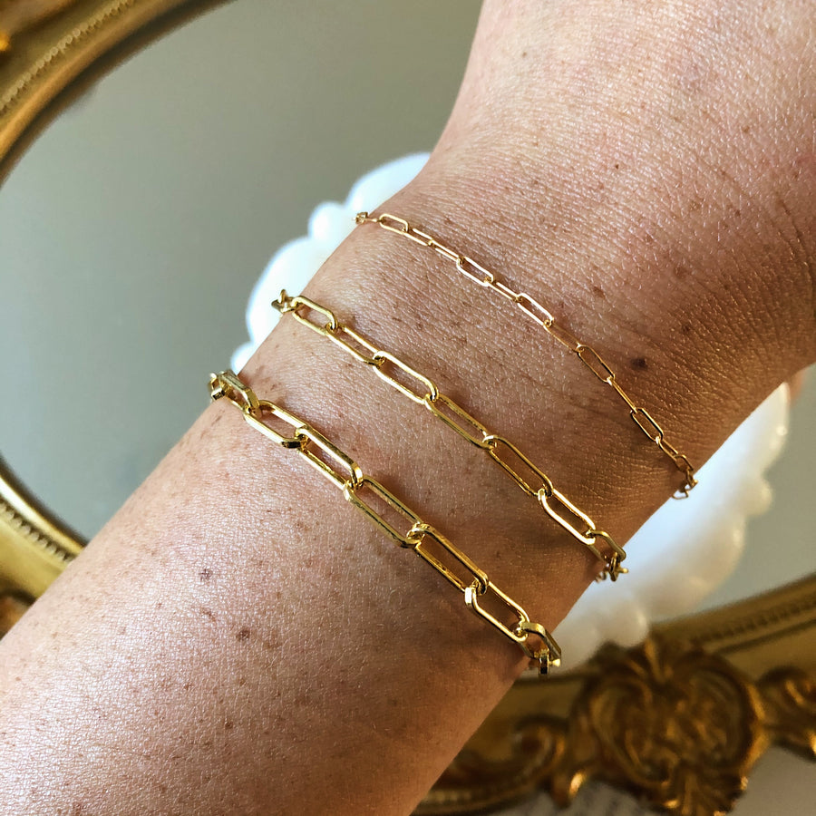 14K EVERYDAY CABLE CHAIN BRACELET