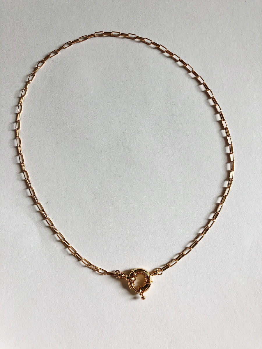 NAUTICAL CLASP CHAIN NECKLACE : GOLD FILLED