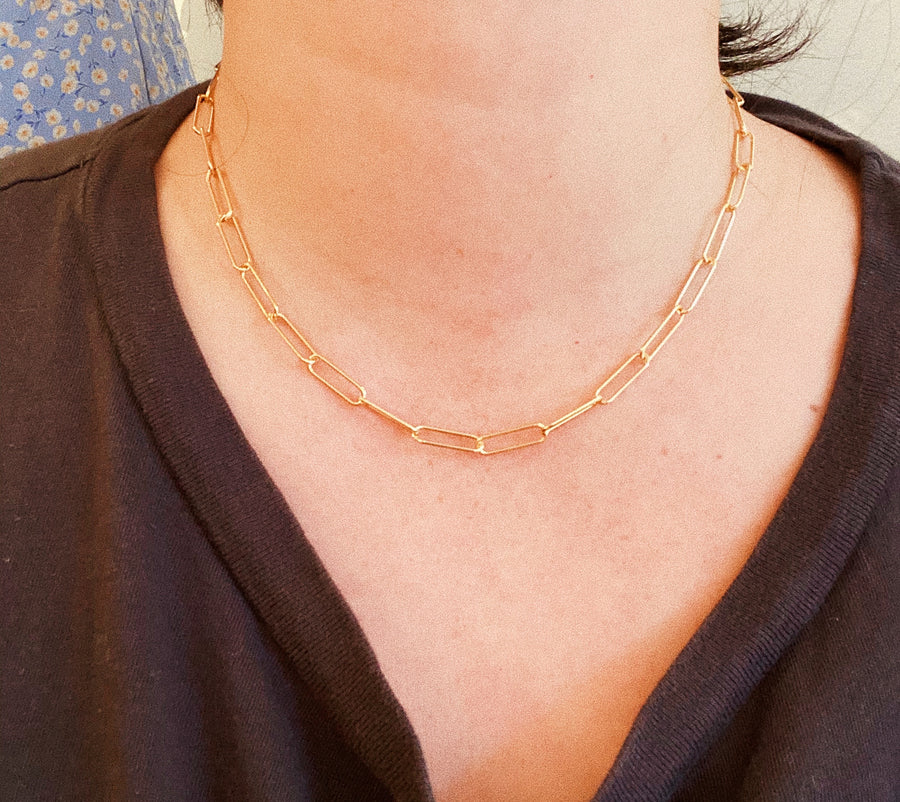 CABLE CHAIN NECKLACE - 16""