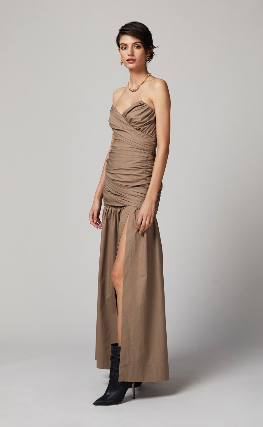 BEC + BRIDGE WINSLOWE MIDI DRESS - MOCHA