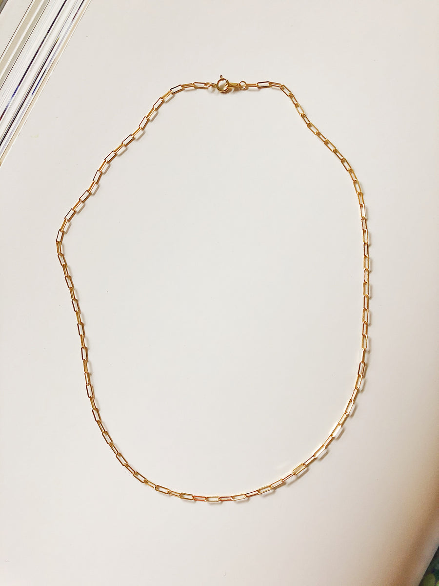 14K EVERYDAY CABLE CHAIN NECKLACE