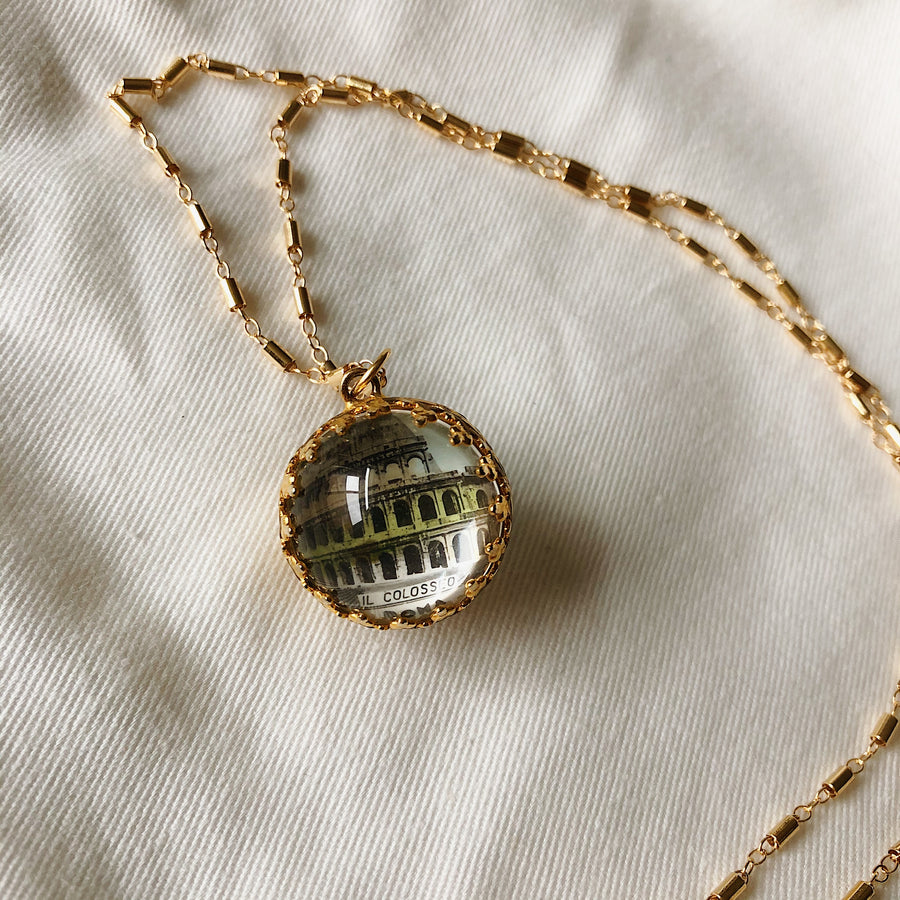 VINTAGE MARBLE PENDENT - IL COLOSSEO
