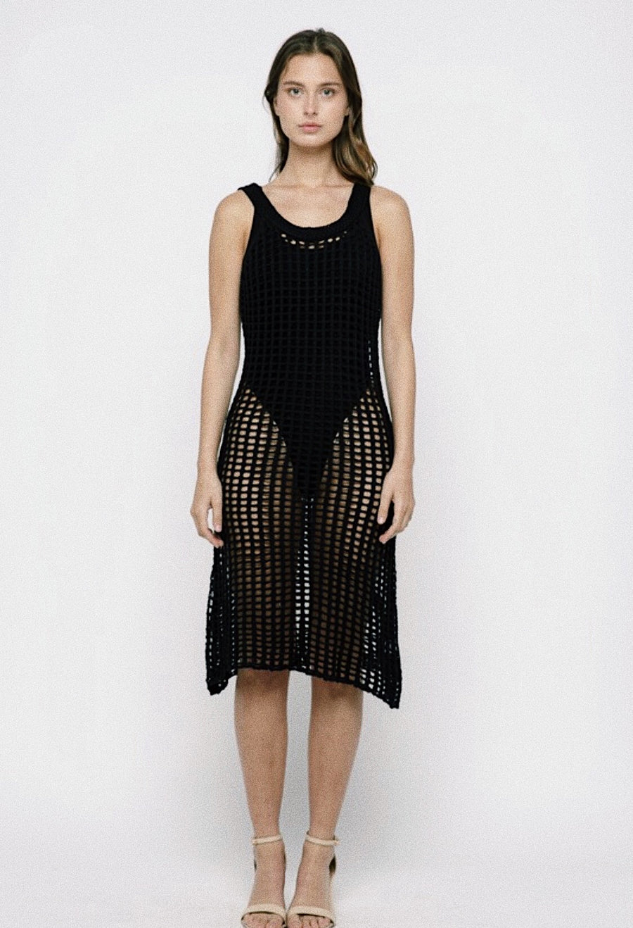 CROCHET MIDI COVERUP - BLACK