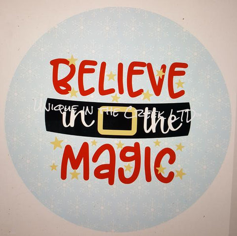 "103. BELIEVE IN THE MAGIC""PAPER"" image center"