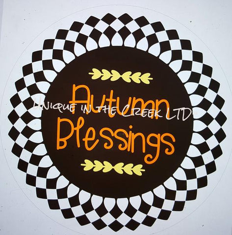 "109. AUTUMN BLESSINGS ""VINYL"" image center"