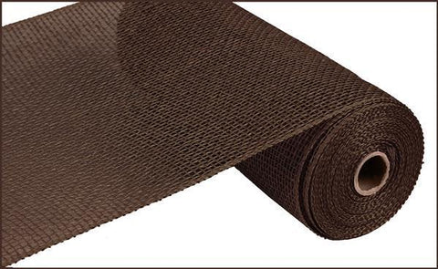 "Deco mesh - 10"" x 10yd   CHOCOLATE Poly Burlap - unique in the creek canada"