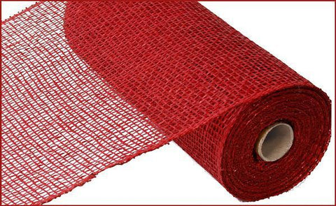 "Deco mesh - 10"" x 10yd   CRANBERRY Poly Burlap - unique in the creek canada"