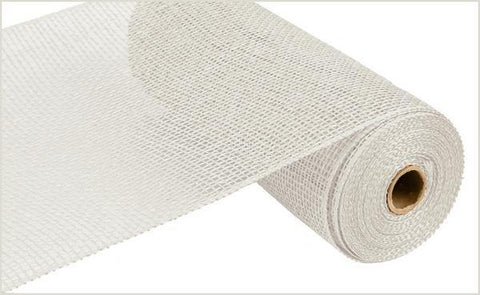 "Deco mesh - 10"" x 10yd WHITE Poly Burlap - unique in the creek canada"